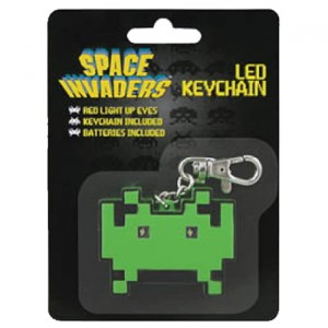 Brelok z latarką Space Invaders