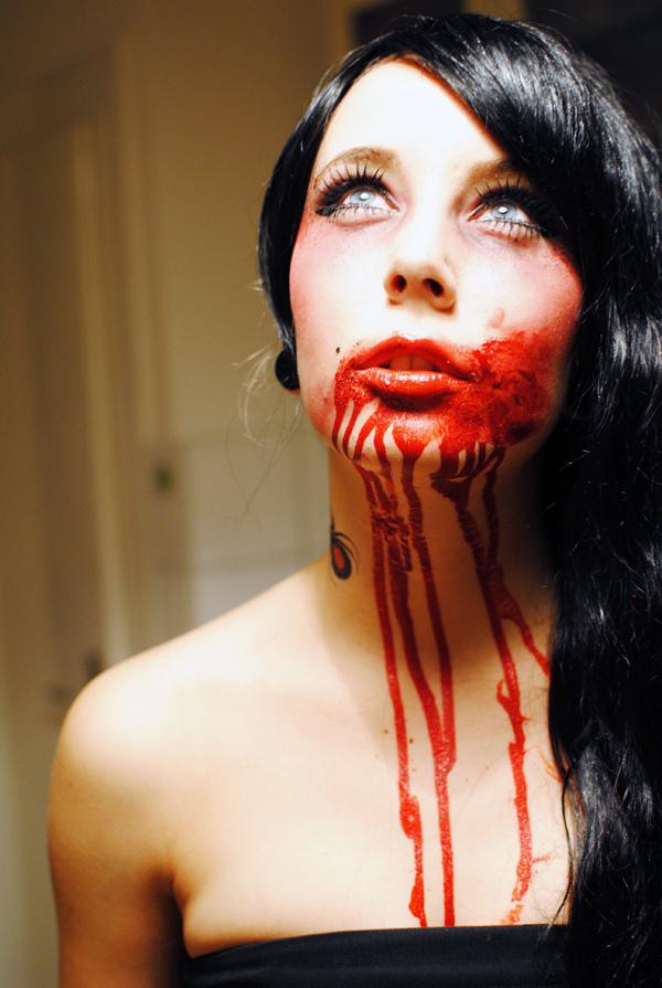 Krew w butelce na przebranie halloween