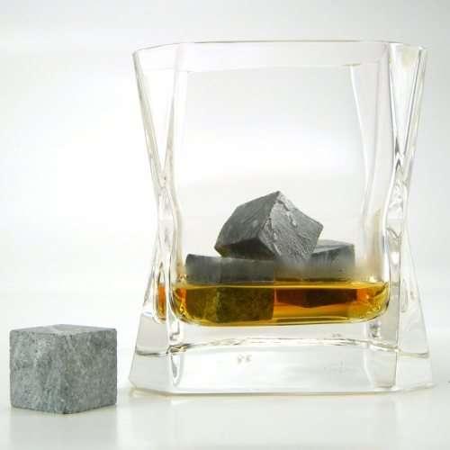 Kamienne kostki do drików whisky stones