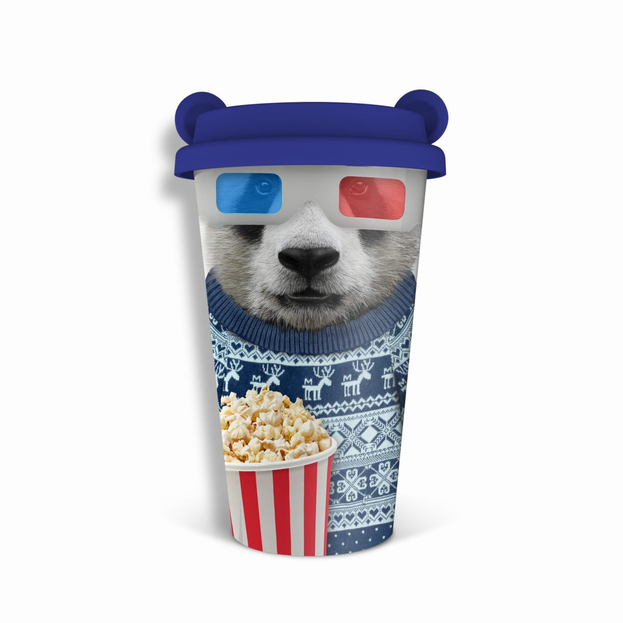 kubek z uszami miś panda