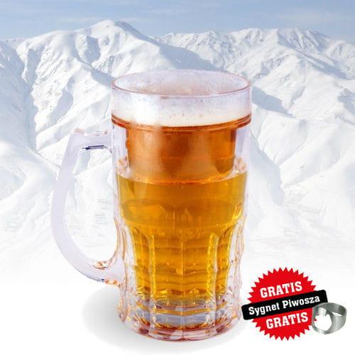 Lodowy kufel do piwa z otwieraczem