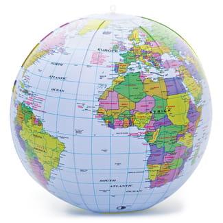 Dmuchany globus piłka plażowa mapa świata