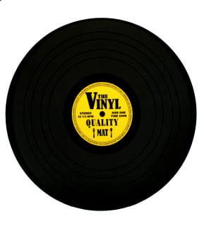 Podkładka płyta winylowa zółta