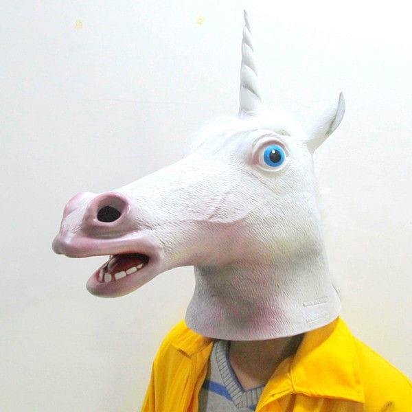 Maska głowa jednorożca
