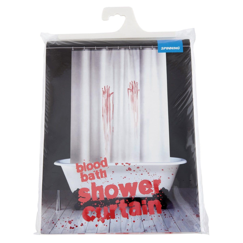 Zasłonka pod prysznic krwawa do łazienki