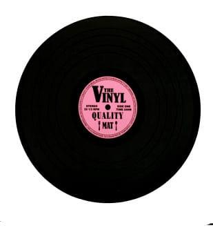 Podkładka płyta winylowa różowa