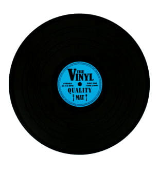 Podkładka płyta winylowa niebieska