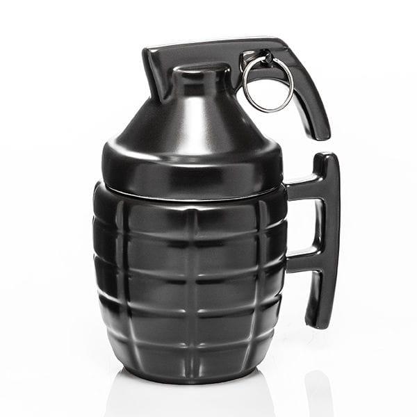 kubek granat z pokrywką