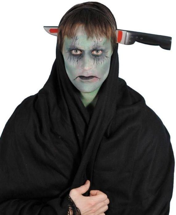 Opaska nóż w głowie halloween