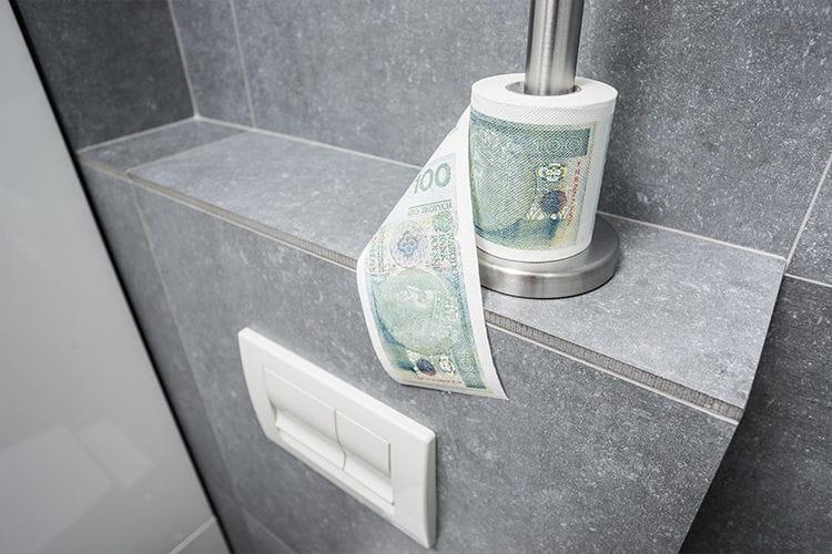Papier toaletowy 100 zł PLN osiemnastka urdziny