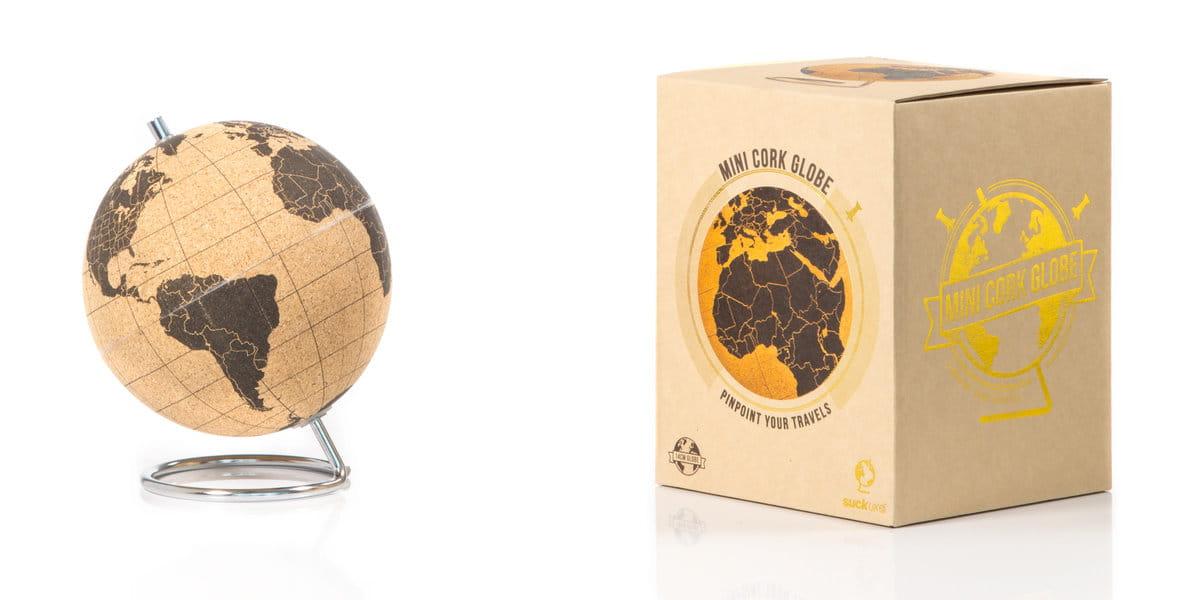 Prezent dla podróżnika - korkowy globus