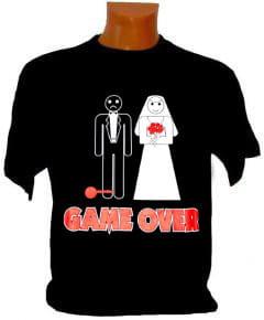 Koszulka Game over wieczór kawalerski z kulą u nogi