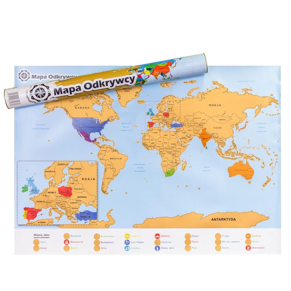 Mapka zdrapka świata podróżika