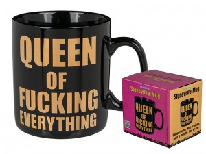 Kubek XXL Queen of fucking everything