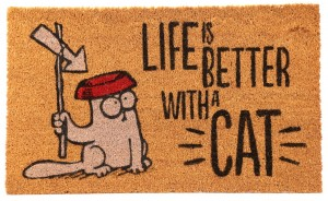 Wycieraczka Kot Simona - Life Is Better With A Cat