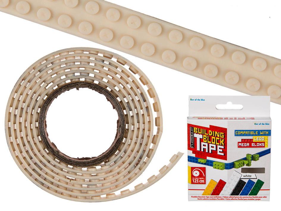 klockowa taśma biała lego tape