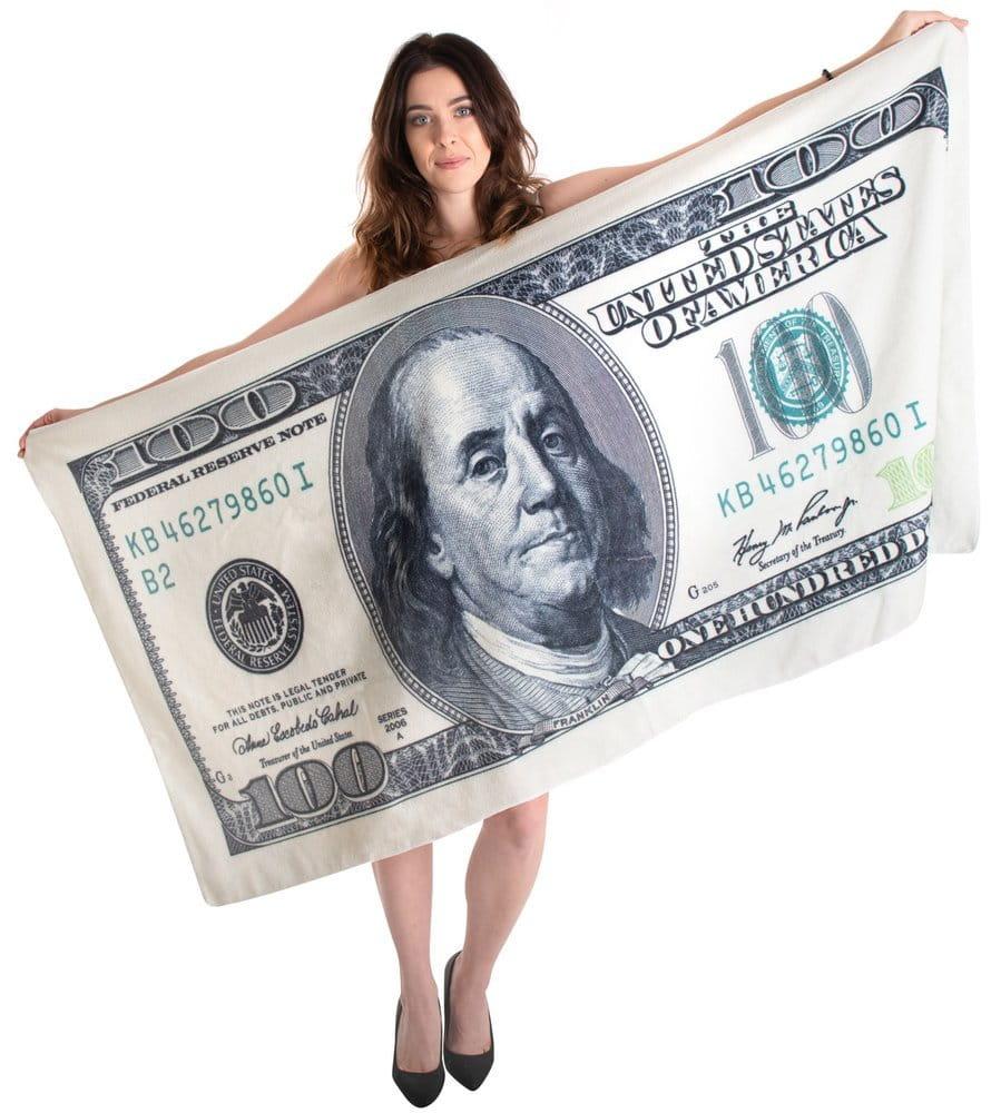Recznik Plazowy Kapielowy Z Nadrukiem Dolarow